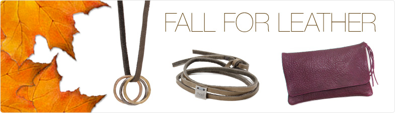 karma jewelry, leather, $60 - $69