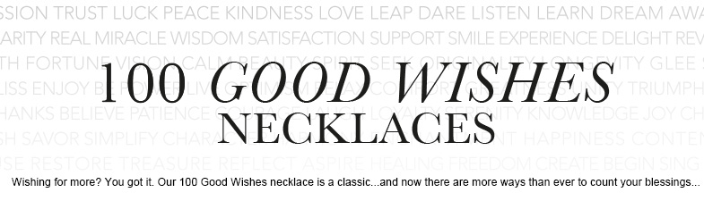 necklaces, 100 good wishes, bead, $90 - $99