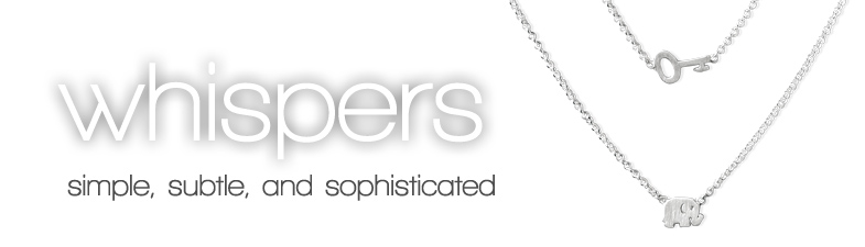 necklaces, whispers, 18 inch
