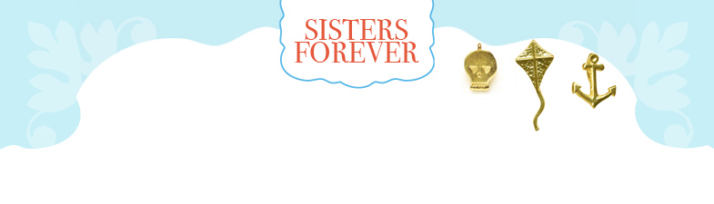 sorority sisters forever, charm, gold dipped, loving heart, $50 - $59