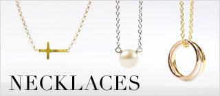 necklaces, variety jewels, gold dipped, $50 - $59