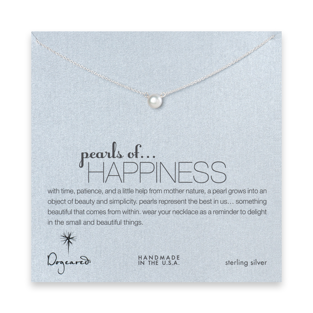 16 inches pearls of happiness sterling silver necklace