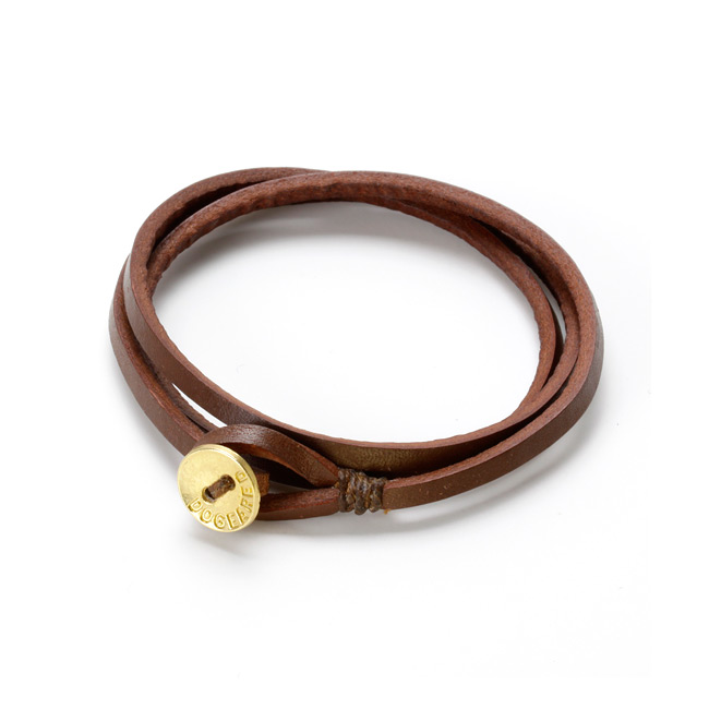 21 inch friendship triple wrap chocolate leather 3mm strap bracelet