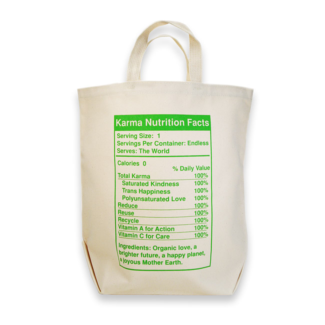 karma nutrition reusable shopping bag : Dogeared Jewels and Gifts