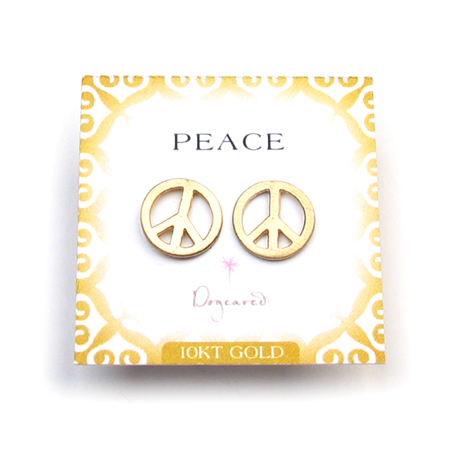 golden peace stud earrings