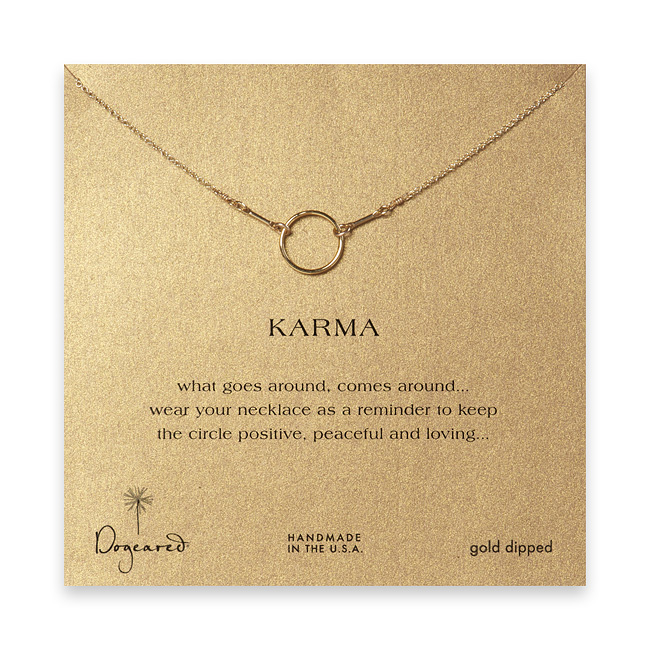 Buy necklaces - dogeared karma necklace, gold dipped