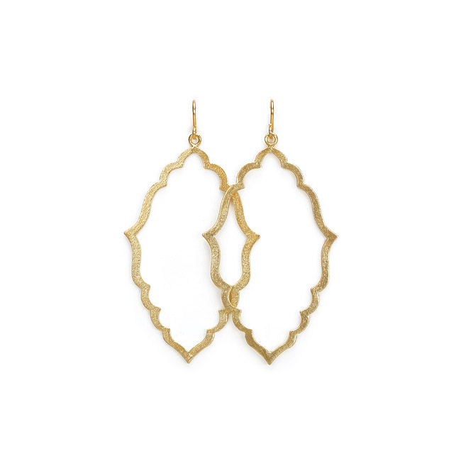 always beautiful moroccan shape gold dipped hoops earrings