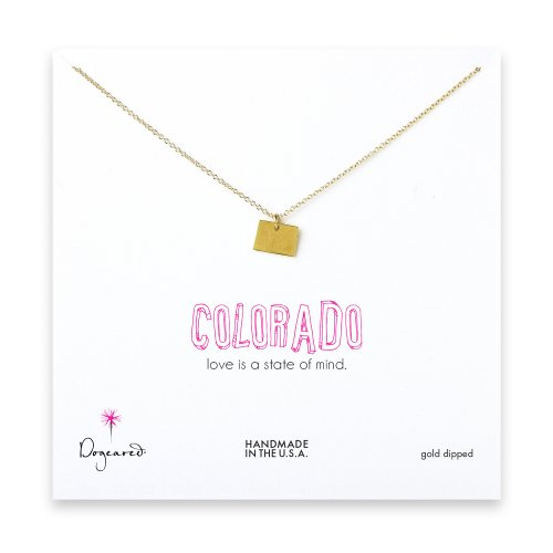 colorado necklace, gold dipped