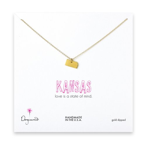 kansas necklace, gold dipped