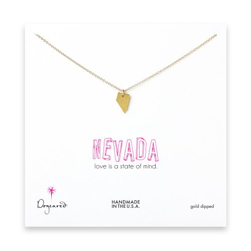 nevada necklace, gold dipped
