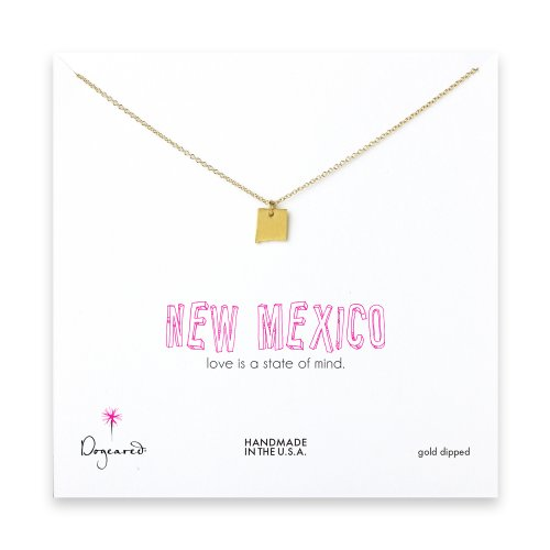 new mexico necklace, gold dipped
