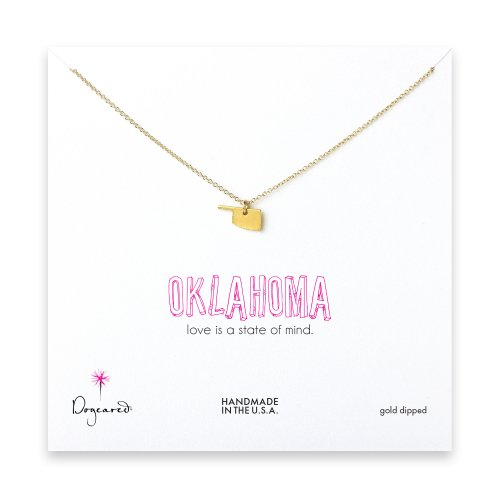 oklahoma necklace, gold dipped
