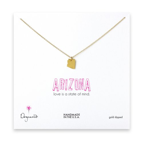 arizona necklace, gold dipped