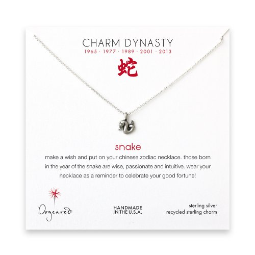 year of the snake charm necklace, sterling silver