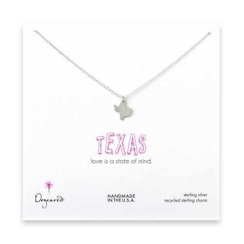 texas necklace, sterling silver