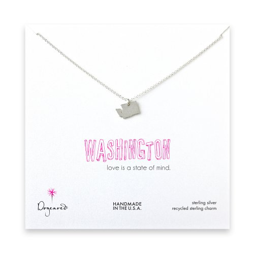 washington necklace, sterling silver