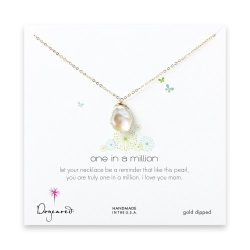 mom keshi pearl necklace, gold dipped