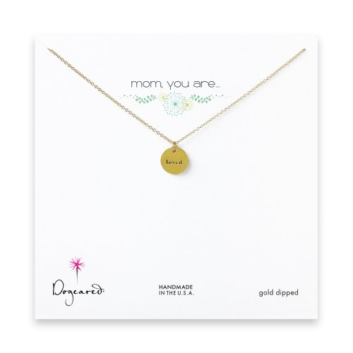 mom, you are loved necklace, gold dipped
