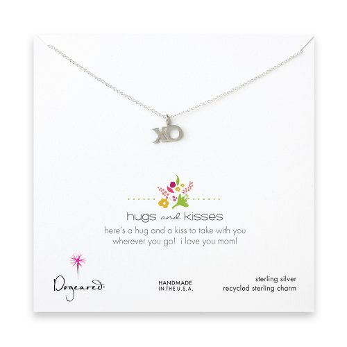 hugs and kisses necklace, sterling silver