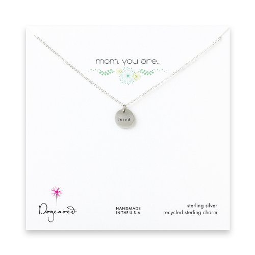 mom, you are loved necklace, sterling silver