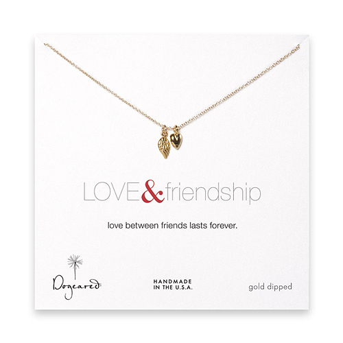 the love & friendship gold dipped necklace