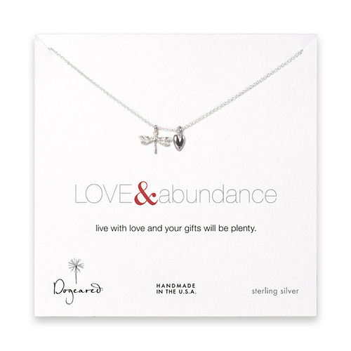 the love & abundance sterling silver necklace