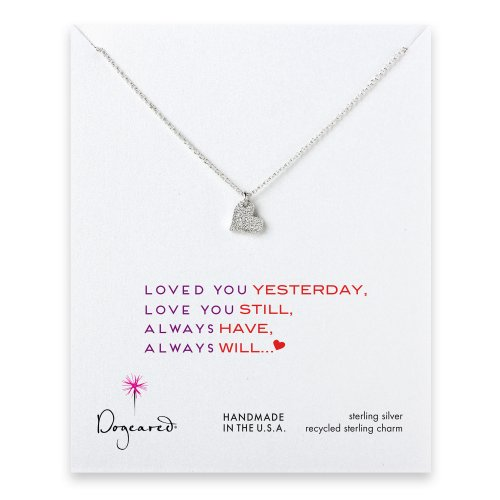 love collection sparkle heart necklace, sterling silver