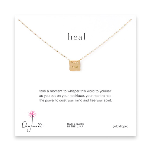 heal mantra gold dipped necklace
