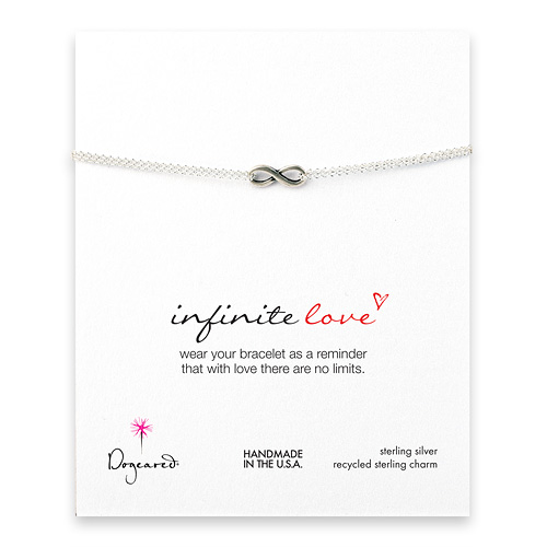 small infinite love bracelet, sterling silver