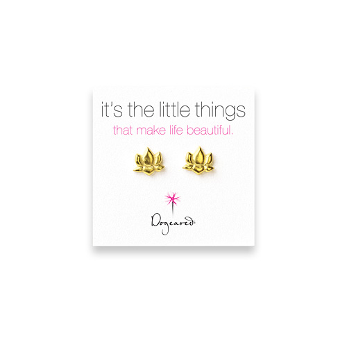it's the little things gold dipped lotus earrings