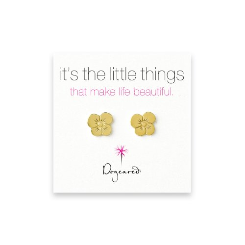 small grace's flower stud earrings, gold dipped