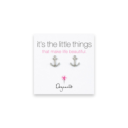 small anchor stud earrings, sterling silver