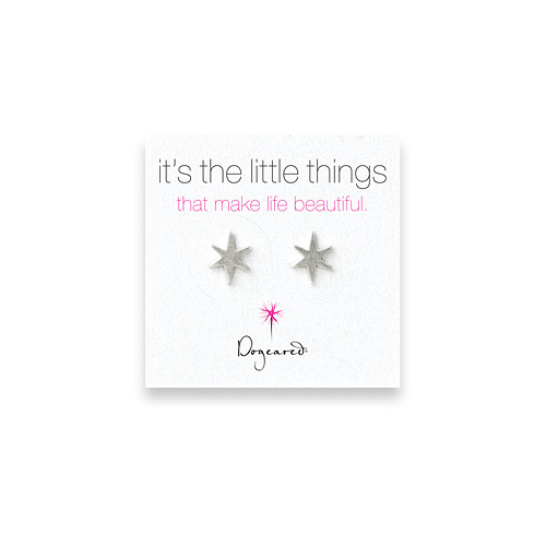 small bright star stud earrings, sterling silver