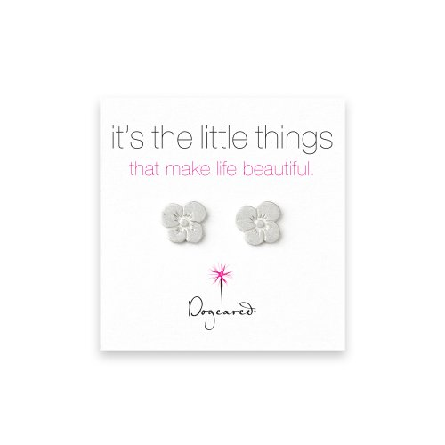small grace's flower stud earrings, sterling silver