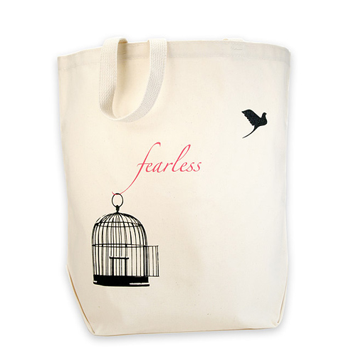fearless reusable tote bag