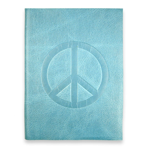 large peace journal with ocean leather
