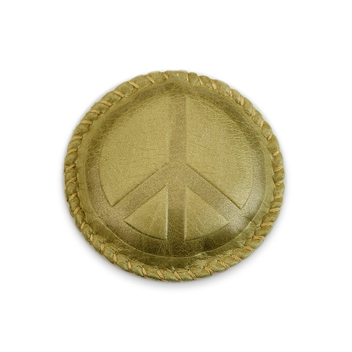 peace moss leather paperweight