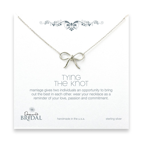 bridal sterling silver tying the knot necklace - 18 inches