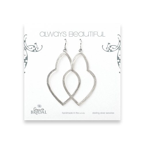 bridal earrings, always beautiful empress, sterling silver