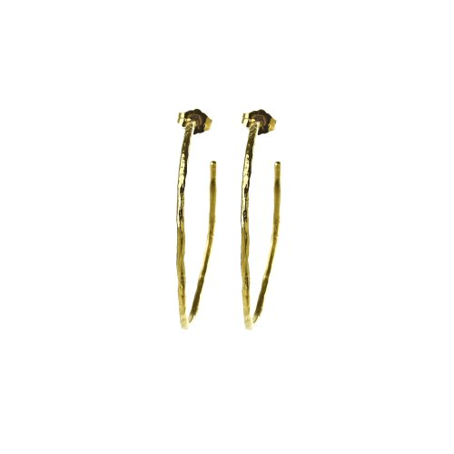 gifts to go collection medium gold dipped hammered hoop earrings
