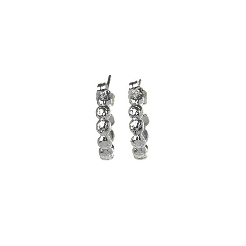 gifts to go collection small silver dipped flower hoop earrings