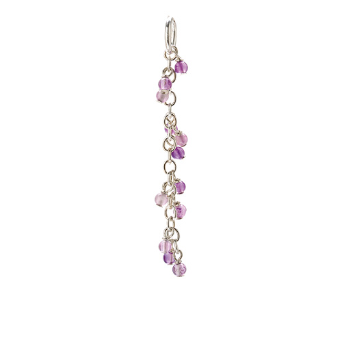 amethyst cascading gems, sterling silver