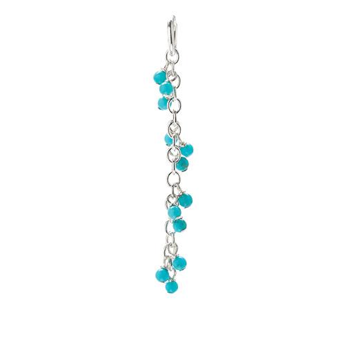 turquoise cascading gems, sterling silver