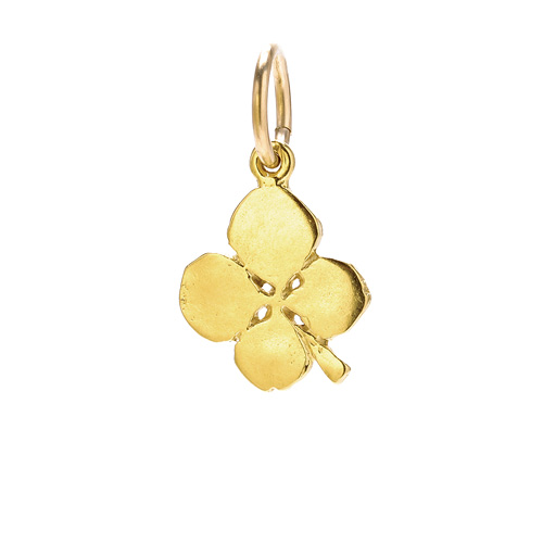 four leaf charm, gold dipped