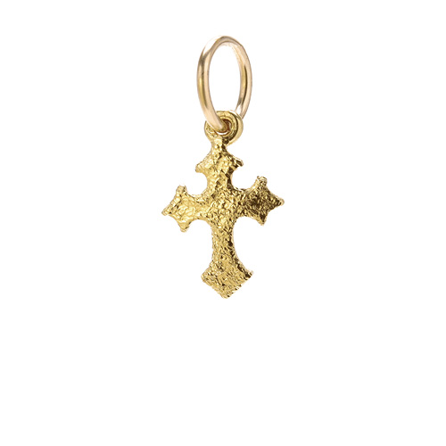 gothic cross charm, gold dipped