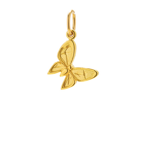enchanted butterfly charm, gold dipped
