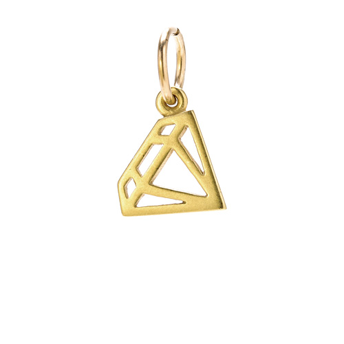 diamond charm, gold dipped