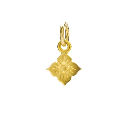 grace's flower charm, gold dipped