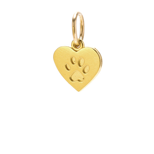 best friends heart charm, gold dipped