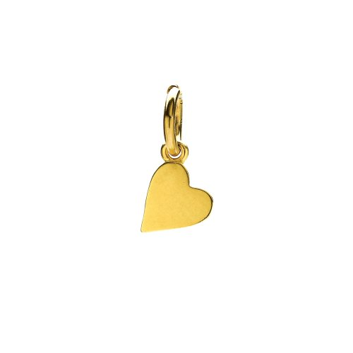 sideways heart charm, gold dipped